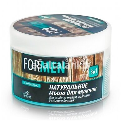 """Natūralus muilas vyrams """"3in1"""" kūno, plaukų priežiūrai ir skutimuisi 450 g. """"Floresan"""""""