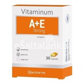 """Maisto papildas A, E vitaminai strong 30 kap. """"Starpharma"""""""