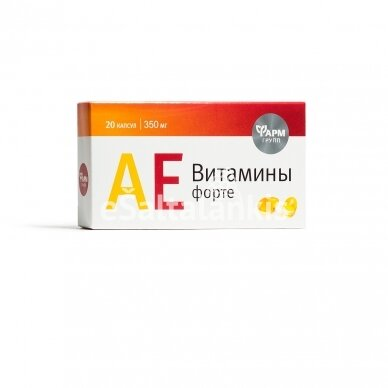 Maisto papildas A E vitaminai forte 20 kap.