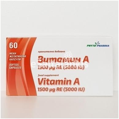 Maisto papildas A vitaminas 60kap.