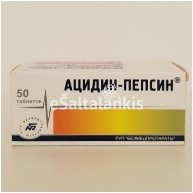 ACIDIN - PEPSIN 50tab. po 0,25g.