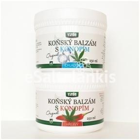 """Balzamas su kanapių aliejumi HOT/COLD (šildantis/šaldantis) 250 ml. """"Virde"""""""