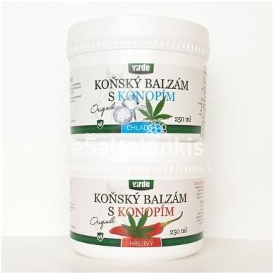 """Balzamas su kanapių aliejumi HOT/COLD (šildantis/šaldantis) 250 ml. """"Virde"""" 2"""