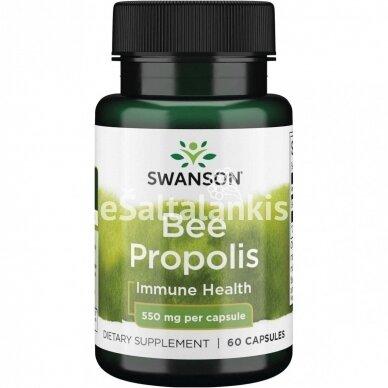 "BIČIŲ PROPOLIS 550 mg. 60 kap. ""SWANSON"""