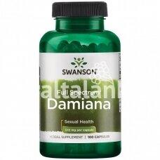 """DAMIANA LAPAI (TURNERA DIFFUSA) 510 mg. 100 kap. """"SWANSON"""""""