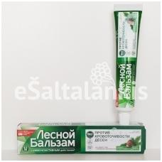 """Dantų pasta su ąžuolo žievės ir pušų ekstraktu """"LESNOJ BALZAM"""" 75 ml"""