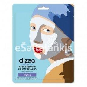 Dizao Masterpieces 3D kaukė veidui ir smakrui su sraigių mucinu, lakštinė, 30 g