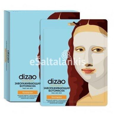 Dizao Masterpieces užburianti boto kaukė veidui, paakiams ir kaklui su kolagenu, 30g.