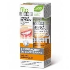 Fitokosmetik milteliai-dantų pasta profesionaliam balinimui 45ml