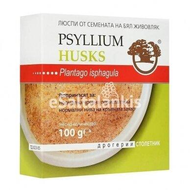 Gysločių sėklų luobelių maistinės skaidulos 100g.