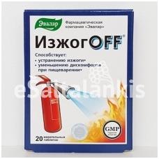 IŽOGOFF 20 kramtomųjų tablečių po 550 mg (Evalar)