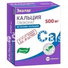 "Kalcio gliukonatas 120 tab. ""Evalar"""