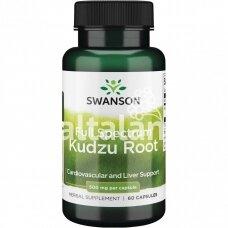"Maisto papildas KUDZU ROOT 500 mg. 60 kap. ""SWANSON"""