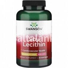"""LECITINAS (BE GMO) 1200 mg 90 kap. """"SWANSON"""""""