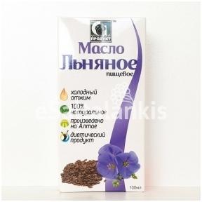 """Linų sėmenų aliejus """"Sibiro produktas"""" 100 ml."""