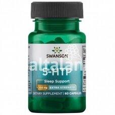 """Maisto papildas 5-HTP (Hidroksitriptofanas) 100mg. 60 kap. """"SWANSON"""""""