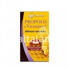 """Maisto papildas Propolis ir vitaminas C  60 kap. """"YVES PONROY"""""""