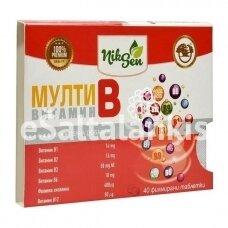 Maisto papildas Multi B Vitaminai 40tab.