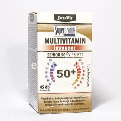 """Multivitamin Immuner Senior 50+ su laktobacilomis 45 tab. """"JutaVit"""""""