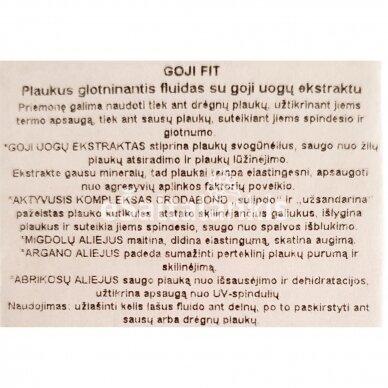 """Plaukus glotninantis fluidas 30ml. """"GOJI FIT"""" 2"""