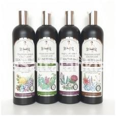 """Šampūnai Nr. 1; 2; 3; 4. """"Recepty Babuški Agafji"""" 550 ml."""