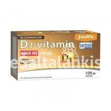 """Vitaminas D3 4000 TV 100 µg Forte 100 tab. """"JutaVit"""""""