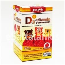 """Maisto papildas Vitaminas D3 guminukai 60vnt. """"JutaVit"""""""