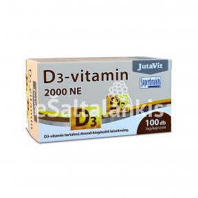"""Vitaminas D3 2000 TV  50 µg  100kap. """"JutaVit"""""""