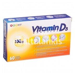 """Vitaminas D3 4000 TV 100 µg  60 kap. """"ABC Vit"""""""