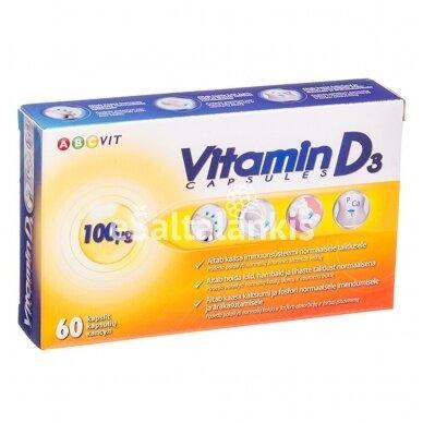 "Maisto papildas Vitaminas D3 4000 TV 100 µg  60 kap. ""ABC Vit"""